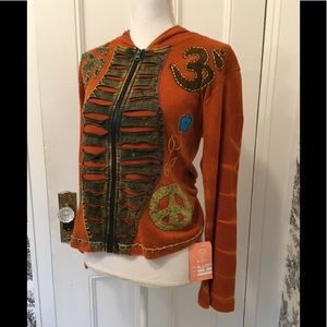 KPC NWT embroidered cotton hoodie size Medium